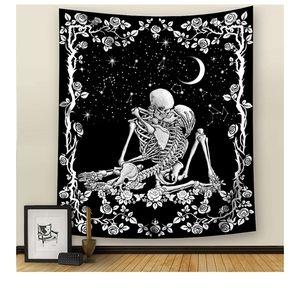 NEW Wall Kissing Skull Tapestry